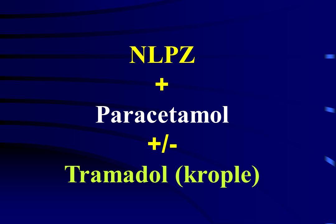 Paracetamol redukcja zapotrzebowania na opioidy do 50 % Peduto, 1998 NLPZ redukcja zapotrzebowania na opioidy do 60 % Wheatley, 1998