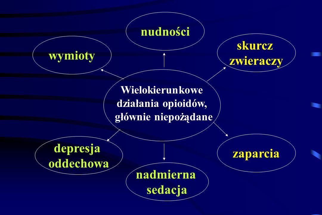 oooooooo Morfina 10 Dionina (3 etylomorfina) 50 Kodeina (3 metylomorfina) 90-120 Hydromorfon (dihydromorfinion) 1,5 Dihydrokodeina 60 Hydrokodon (dihy