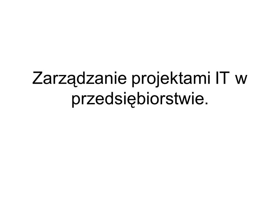 Zarządzanie projektami IT w przedsiębiorstwie.