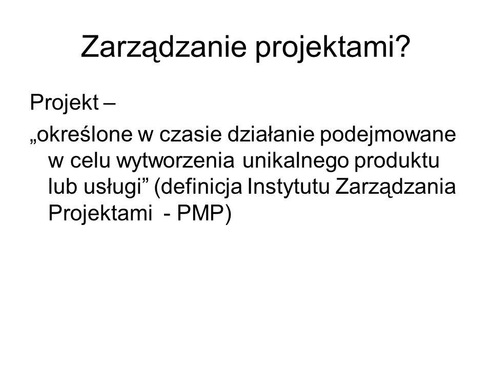 Zarządzanie projektami.