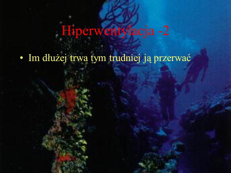 Hiperwentylacja -2 Im dłużej trwa tym trudniej ją przerwać