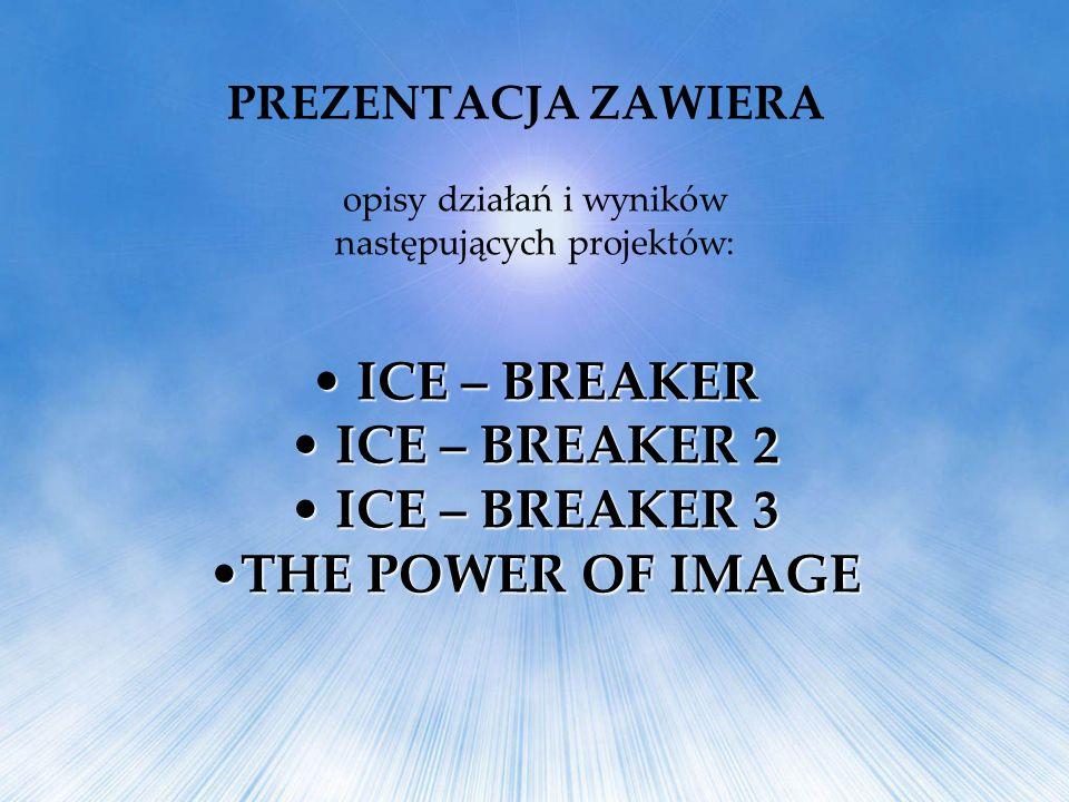 opisy działań i wyników następujących projektów: ICE – BREAKER ICE – BREAKER ICE – BREAKER 2 ICE – BREAKER 2 ICE – BREAKER 3 ICE – BREAKER 3 THE POWER