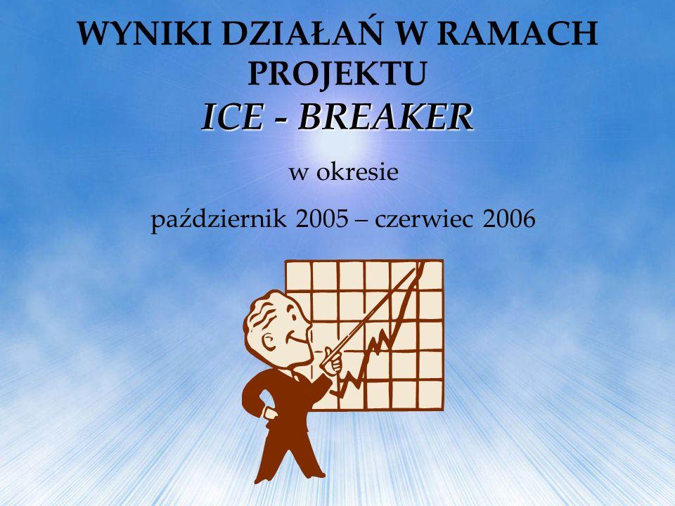 w okresie październik 2005 – czerwiec 2006 ICE - BREAKER WYNIKI DZIAŁAŃ W RAMACH PROJEKTU ICE - BREAKER