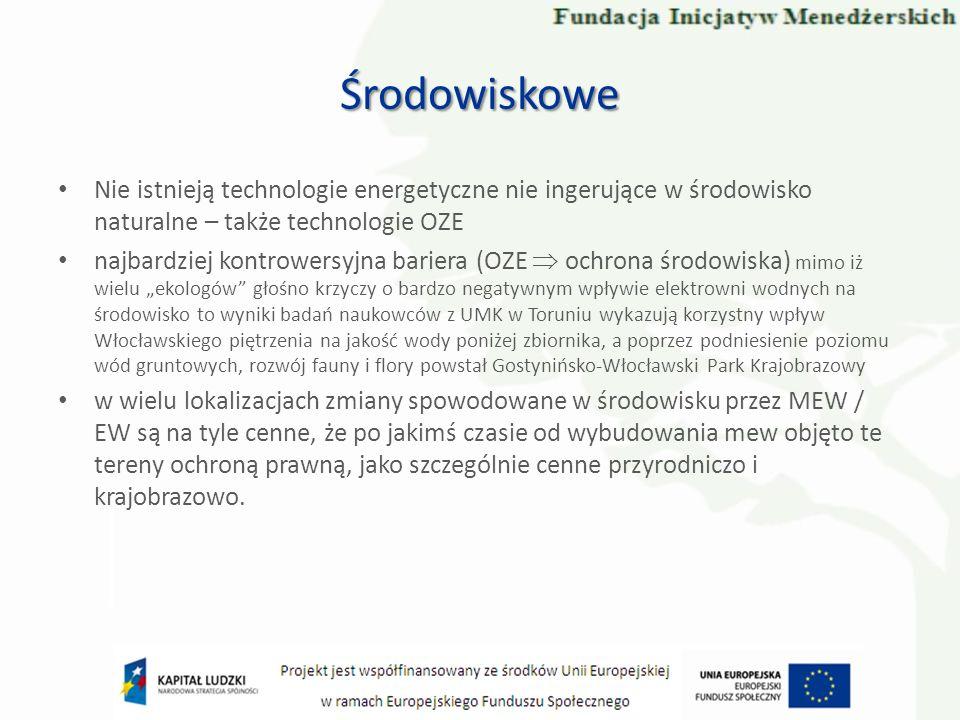 Nie istnieją technologie energetyczne nie ingerujące w środowisko naturalne – także technologie OZE najbardziej kontrowersyjna bariera (OZE ochrona śr