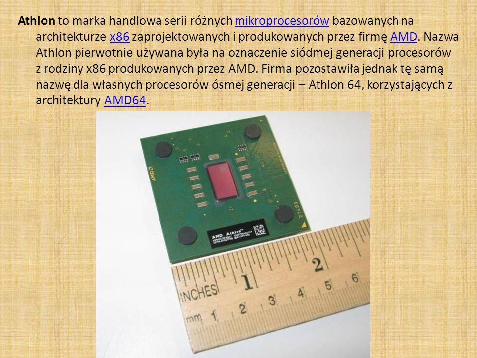 Athlon to marka handlowa serii różnych mikroprocesorów bazowanych na architekturze x86 zaprojektowanych i produkowanych przez firmę AMD. Nazwa Athlon