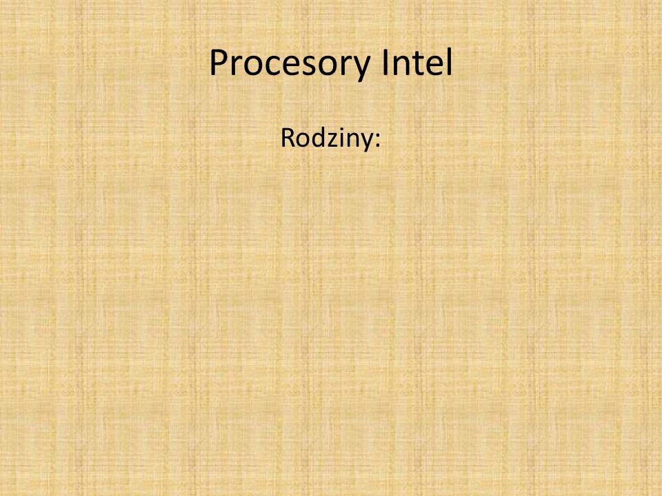 Procesory Intel Rodziny: