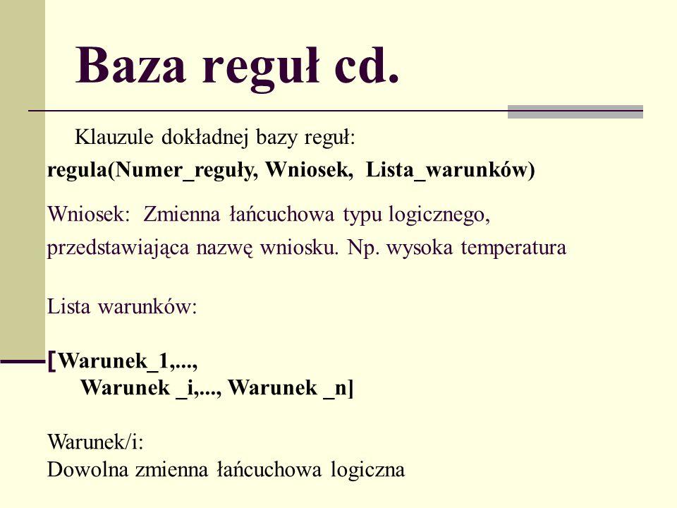Baza reguł cd.