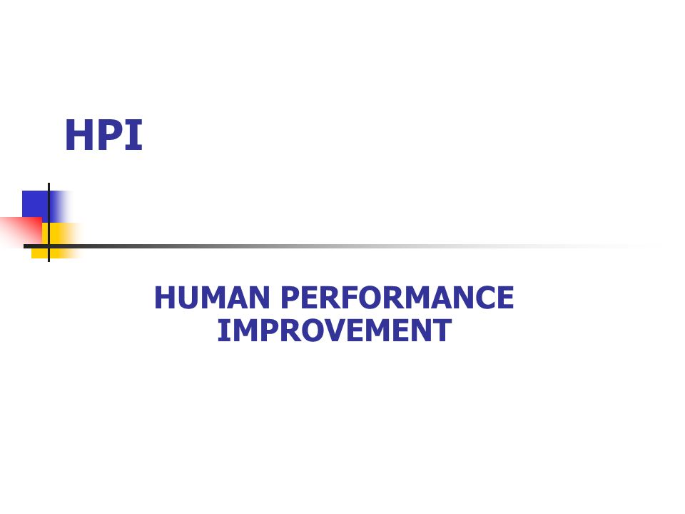 HPI HUMAN PERFORMANCE IMPROVEMENT