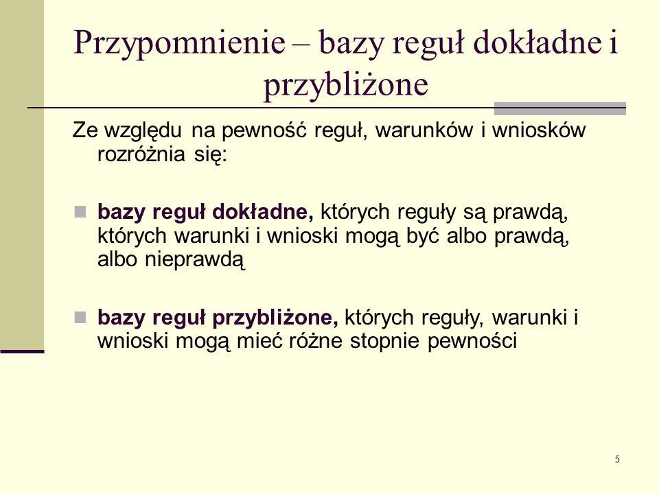 6 BAZA OGRANICZEŃ Baza ograniczeń zawiera zbiory warunków dopytywalnych wykluczających się.