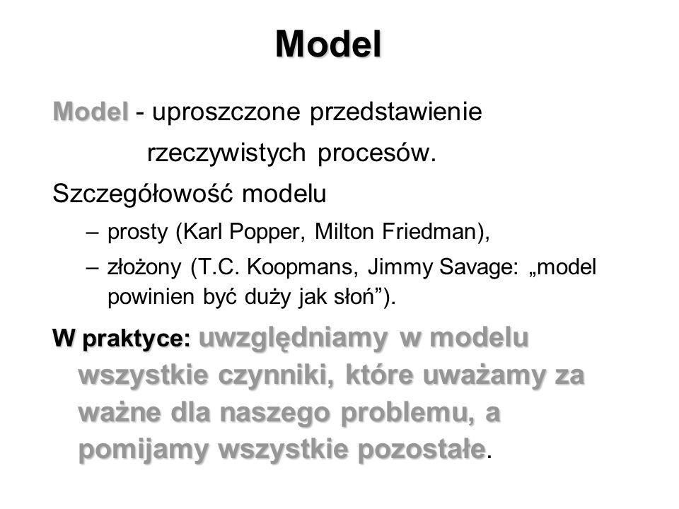 Cele ekonometrii # Formułowanie modeli ekonometrycznych, czyli formułowanie modeli ekonomicznych w formie pozwalającej je empirycznie testować. # Esty