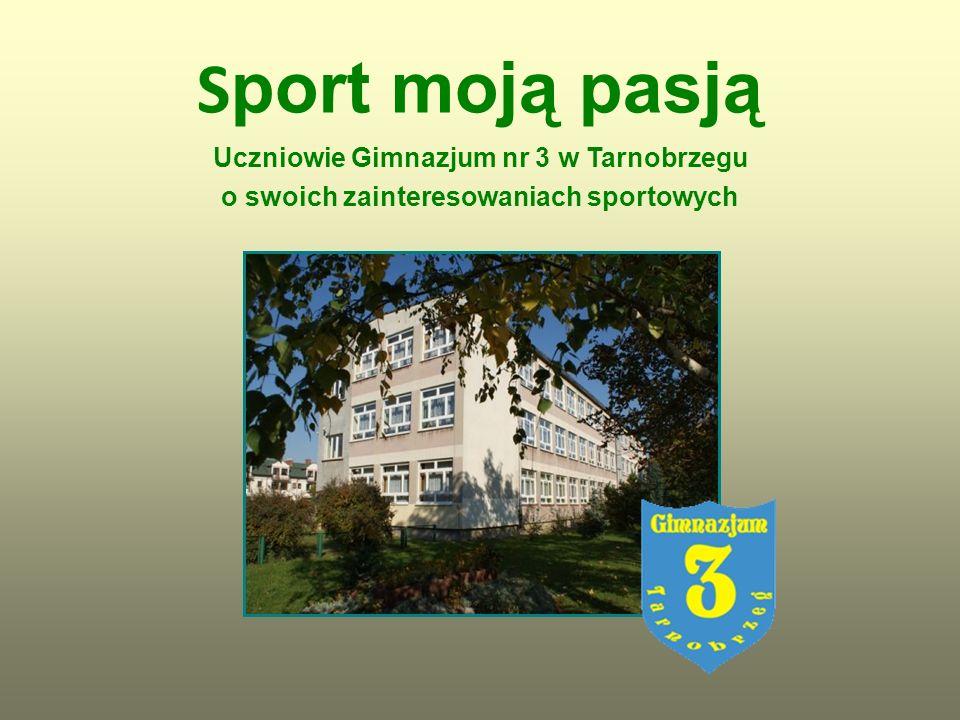S port moją pasją Uczniowie Gimnazjum nr 3 w Tarnobrzegu o swoich zainteresowaniach sportowych