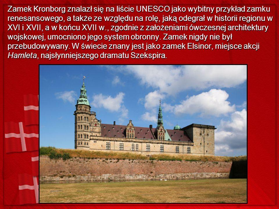 Zamek Kronborg znalazł się na liście UNESCO jako wybitny przykład zamku renesansowego, a także ze względu na rolę, jaką odegrał w historii regionu w X
