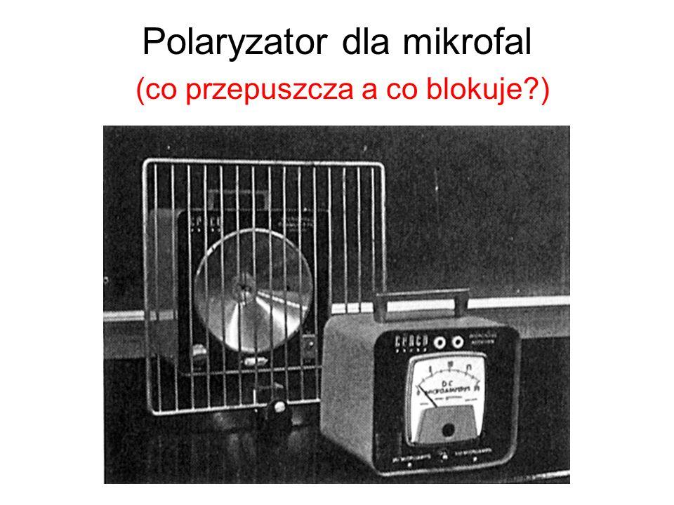 Polaryzator dla mikrofal (co przepuszcza a co blokuje?)