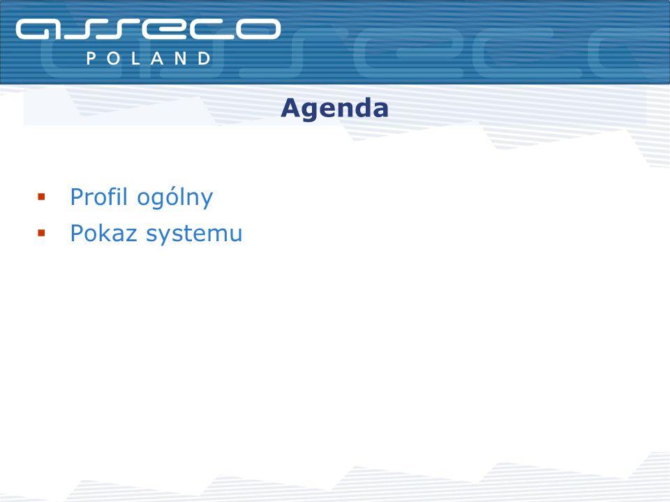 Agenda Profil ogólny Pokaz systemu