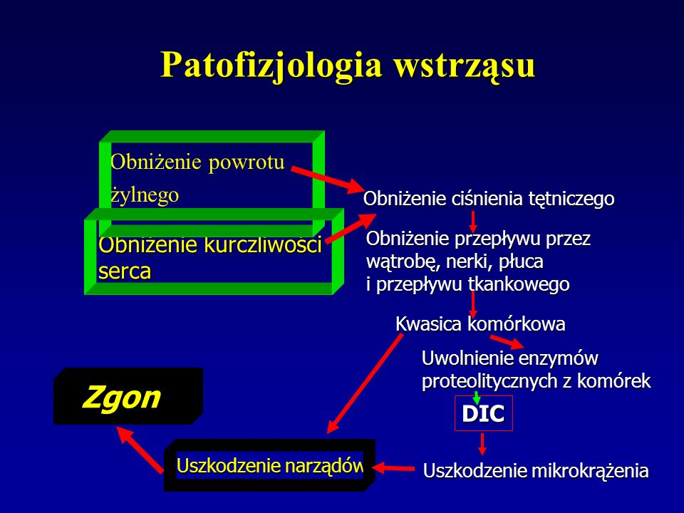 Wstępna resuscytacja 2 B Jeżeli podczas pierwszych 6 h resuscytacji saturacja żylna =30% i/lub podać dobutaminę ( do dawki max 20 g/kg/min )