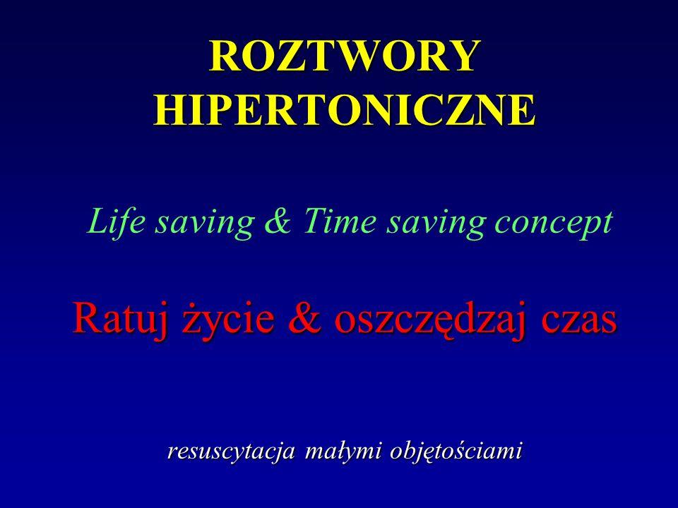 ROZTWORY HIPERTONICZNE Ratuj życie & oszczędzaj czas resuscytacja małymi objętościami ROZTWORY HIPERTONICZNE Life saving & Time saving concept Ratuj ż