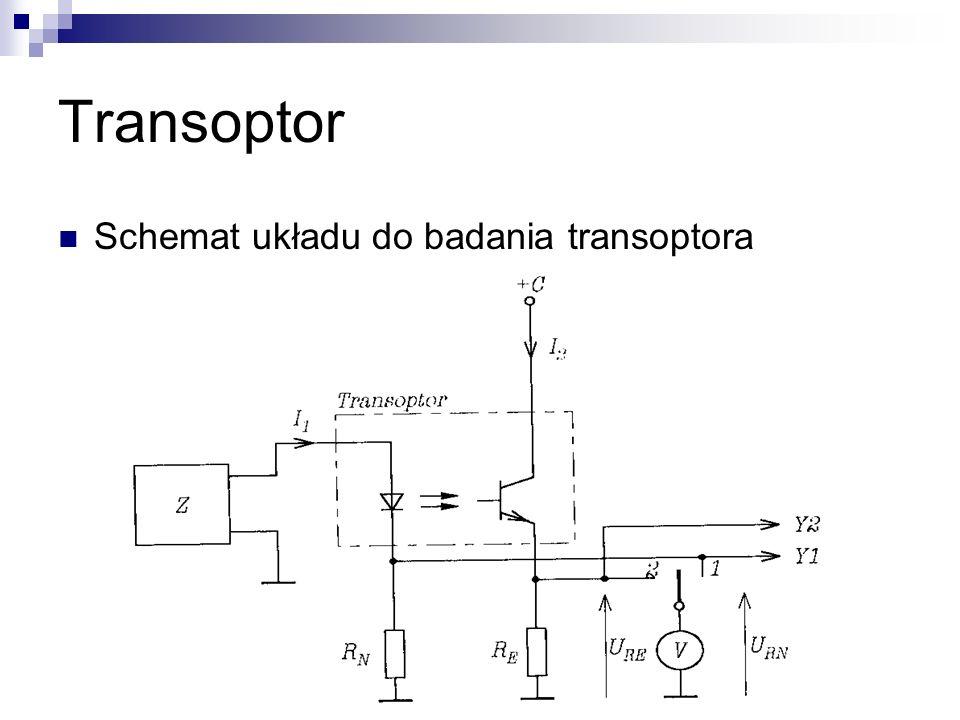 Transoptor Schemat układu do badania transoptora