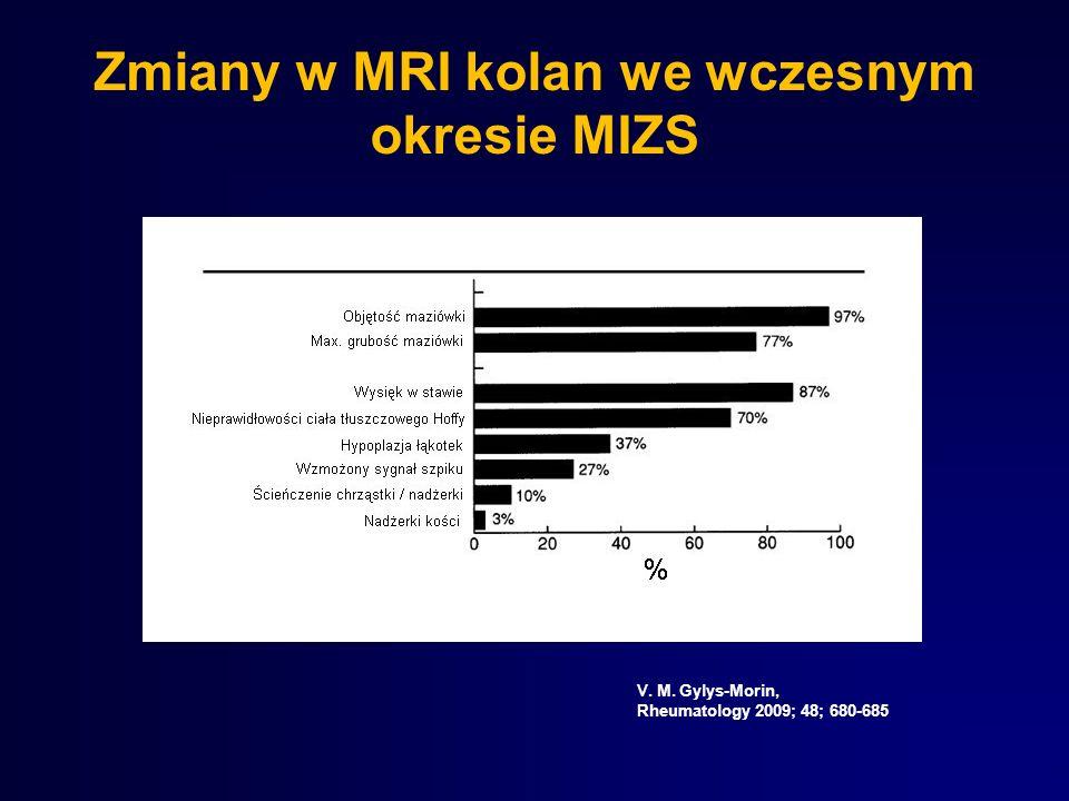V. M. Gylys-Morin, Rheumatology 2009; 48; 680-685 Zmiany w MRI kolan we wczesnym okresie MIZS