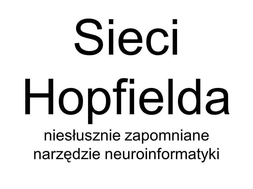 Inne ciekawe możliwości zastosowań wiążą się z użyciem sieci Hopfielda jako pamięci skojarzeniowej
