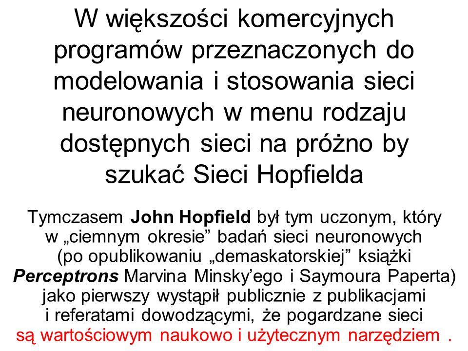 W 1982 roku Hopfield, będący już wtedy sławnym fizykiem (m.
