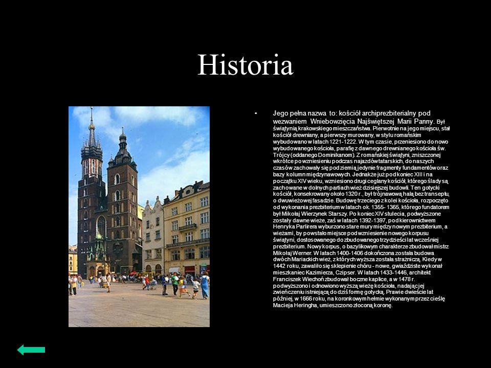 Historia Jego pełna nazwa to: kościół archiprezbiterialny pod wezwaniem Wniebowzięcia Najświętszej Marii Panny. Był świątynią krakowskiego mieszczańst