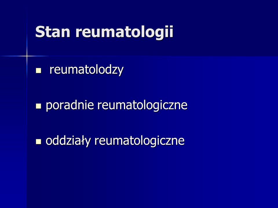 Stan reumatologii reumatolodzy reumatolodzy poradnie reumatologiczne poradnie reumatologiczne oddziały reumatologiczne oddziały reumatologiczne