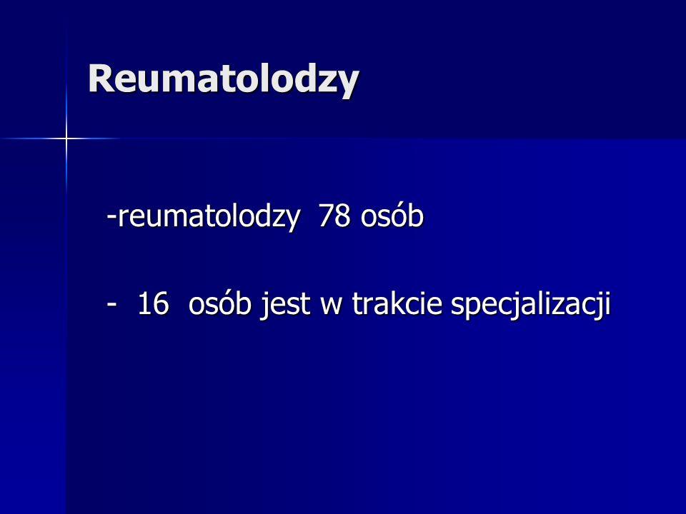 Poradnie reumatologiczne - poradni reumatologicznych –ok.
