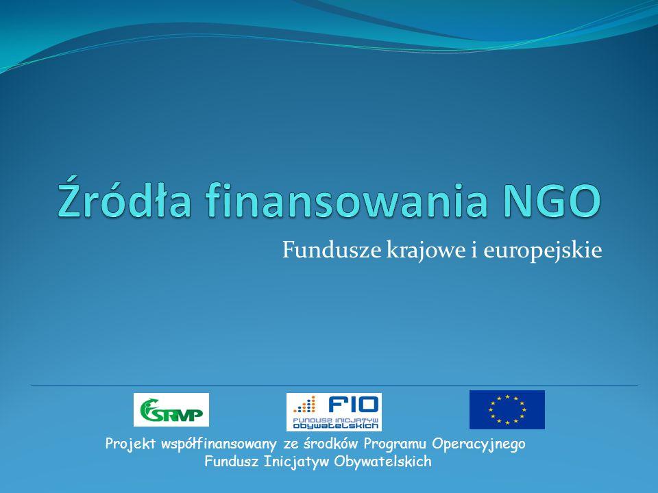 Fundusze krajowe i europejskie Projekt współfinansowany ze środków Programu Operacyjnego Fundusz Inicjatyw Obywatelskich