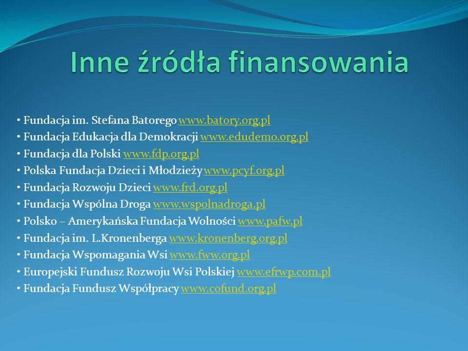 Fundacja im. Stefana Batorego www.batory.org.plwww.batory.org.pl Fundacja Edukacja dla Demokracji www.edudemo.org.plwww.edudemo.org.pl Fundacja dla Po