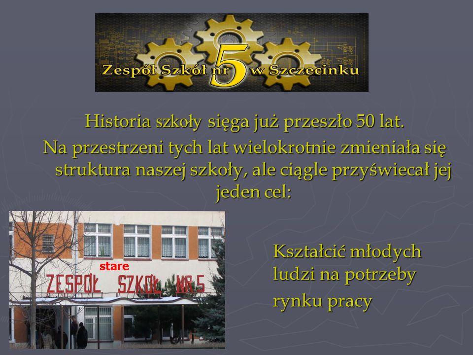 Historia szkoły sięga już przeszło 50 lat. Na przestrzeni tych lat wielokrotnie zmieniała się struktura naszej szkoły, ale ciągle przyświecał jej jede