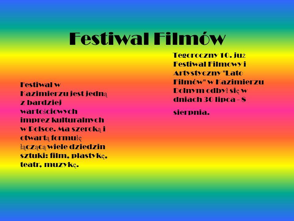 Festiwal Filmów Tegoroczny 10. ju ż Festiwal Filmowy i Artystyczny