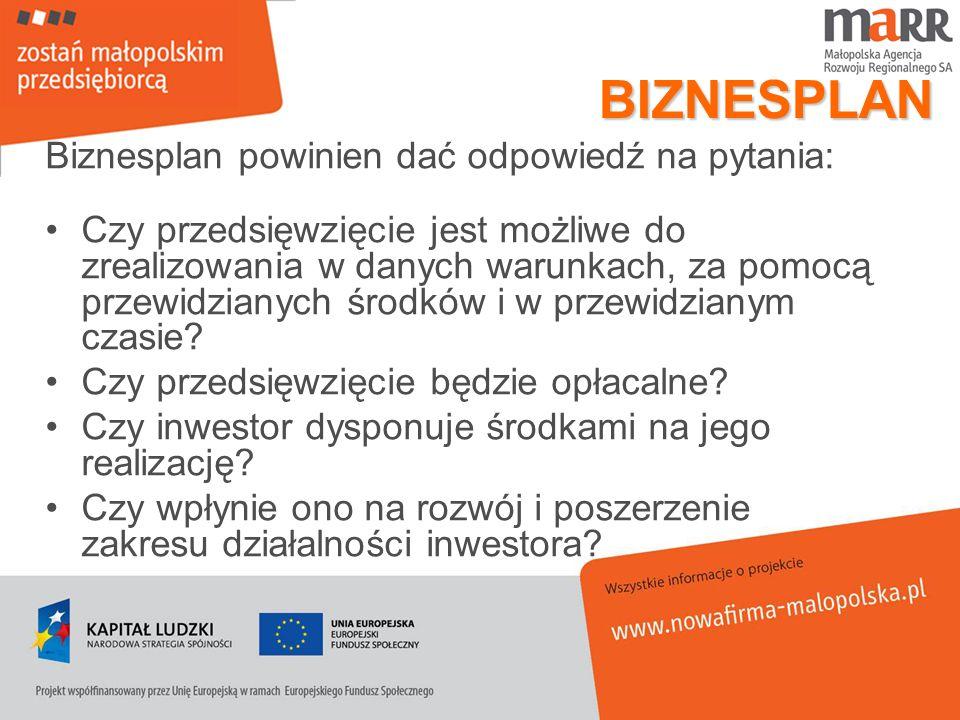 ODBIORCY BIZNESPLANU Bezpośrednio: Kierownictwo Inwestorzy (obecni i przyszli np.