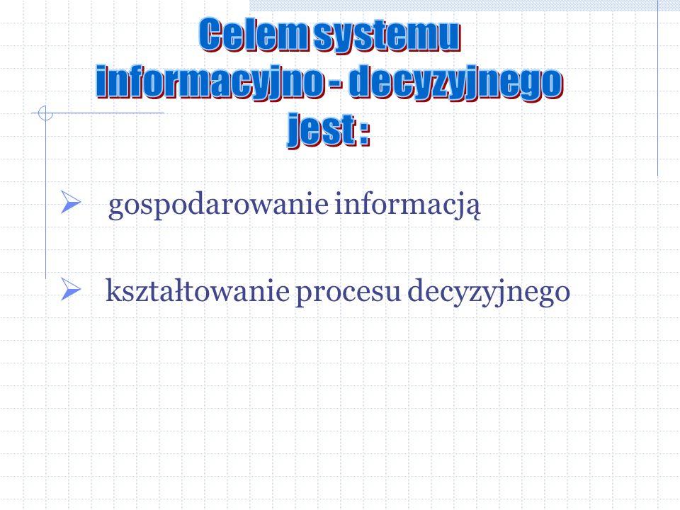 gospodarowanie informacją kształtowanie procesu decyzyjnego