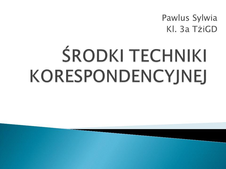 Pawlus Sylwia Kl. 3a TżiGD