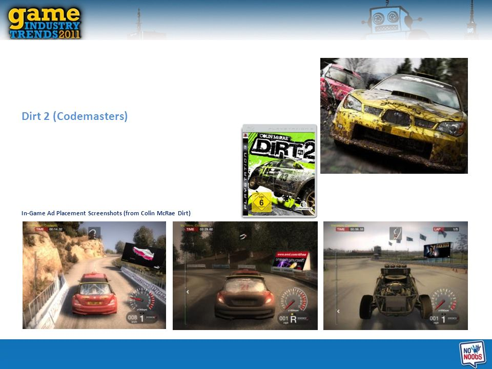 Dirt 2 (Codemasters) In-Game Ad Placement Screenshots (from Colin McRae Dirt)