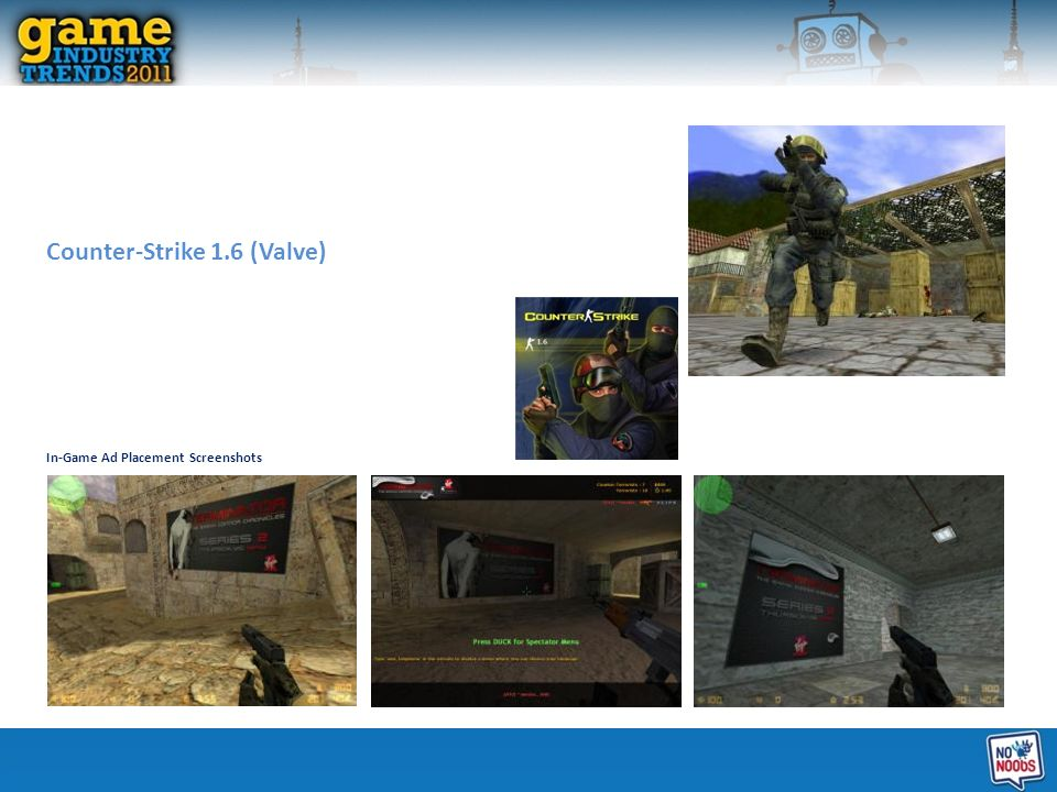 Counter-Strike 1.6 (Valve) In-Game Ad Placement Screenshots