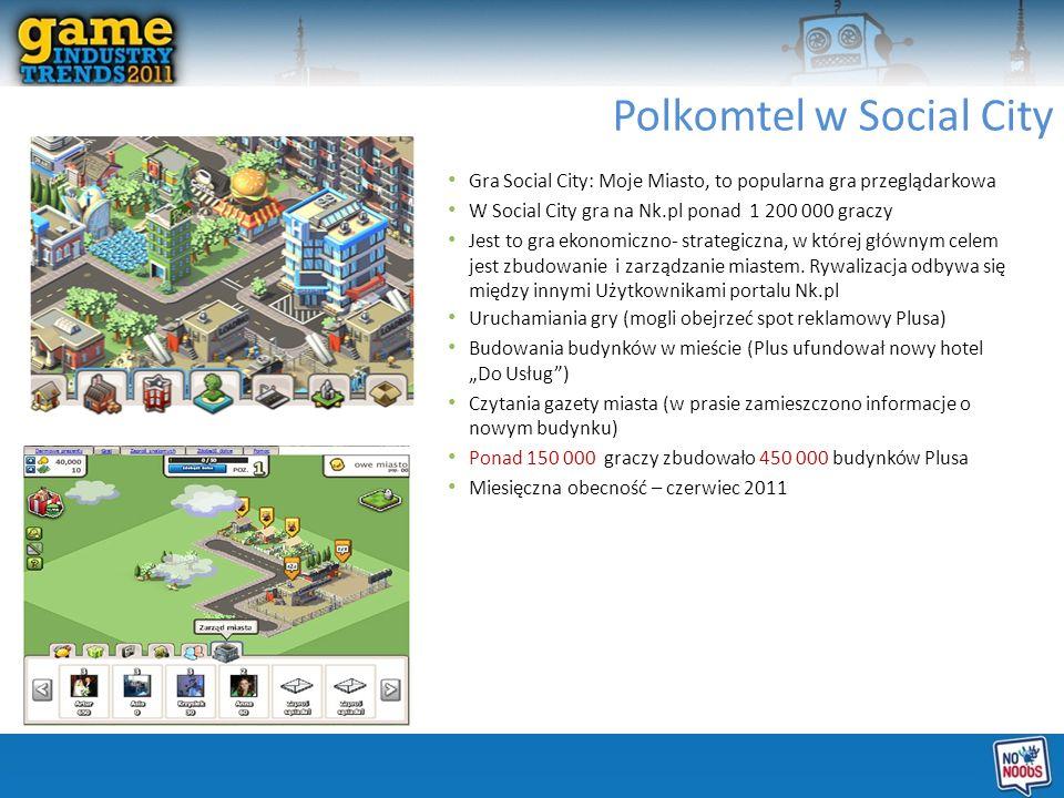 Gra Social City: Moje Miasto, to popularna gra przeglądarkowa W Social City gra na Nk.pl ponad 1 200 000 graczy Jest to gra ekonomiczno- strategiczna, w której głównym celem jest zbudowanie i zarządzanie miastem.