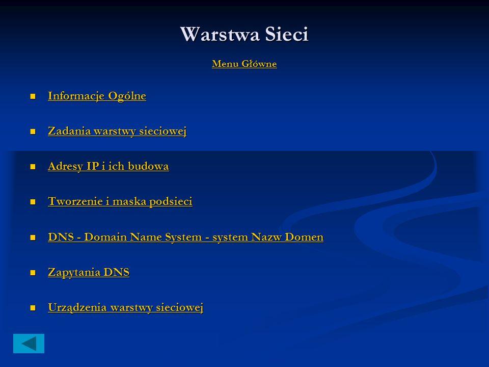 Warstwa łącza danych Menu Główne Menu Główne Menu Główne Urządzenia warstwy łącza danych: Urządzenia warstwy łącza danych: mostki, mostki, Przełącznic