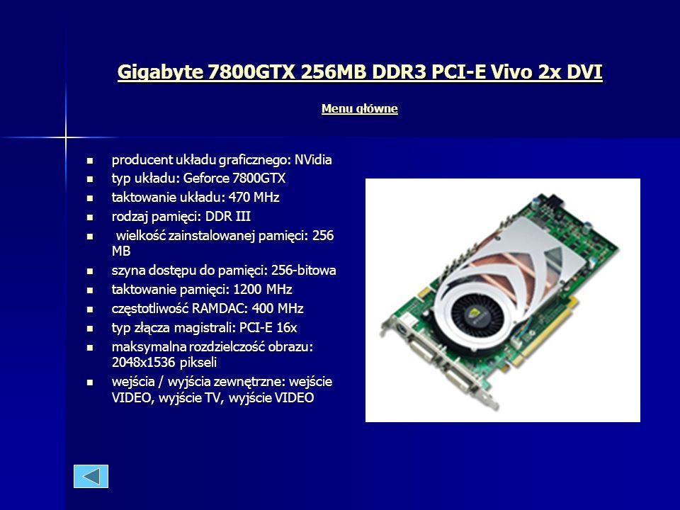 Rodzaje kart graficznych Menu główne Menu główne Menu główne AGP AGP Już podczas premiery AGP, specyfikacja dopuszczała dwie szybkości AGP - AGP1x i A