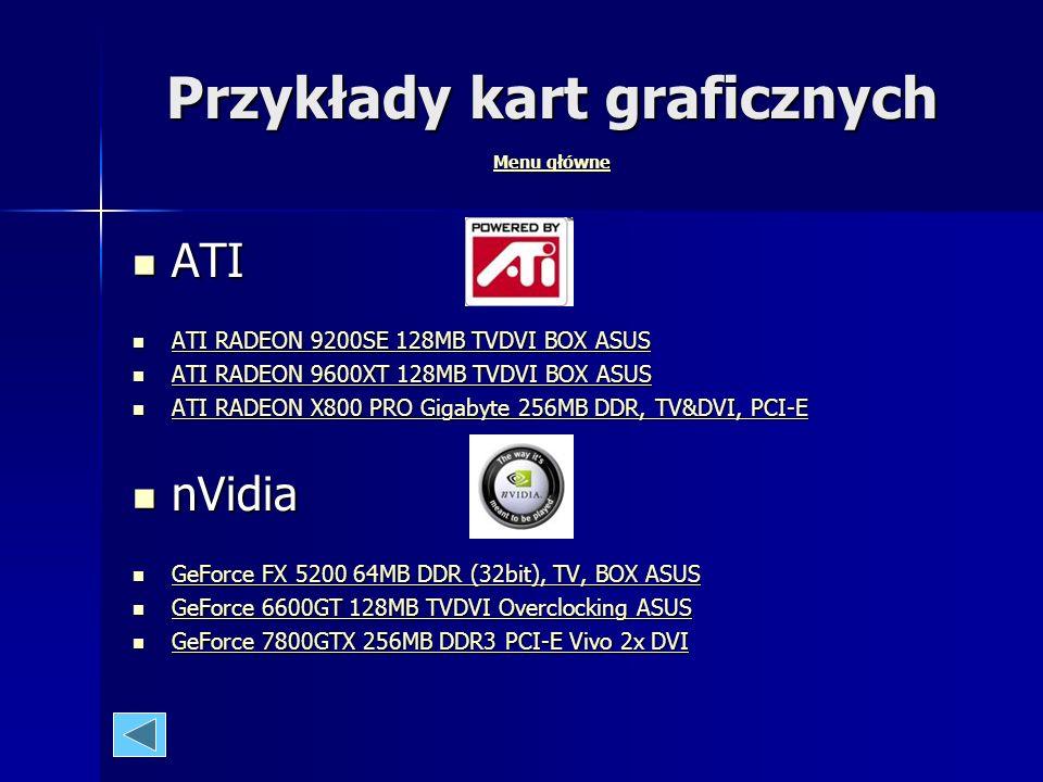 Gigabyte 7800GTX 256MB DDR3 PCI-E Vivo 2x DVI Menu główne Gigabyte 7800GTX 256MB DDR3 PCI-E Vivo 2x DVI Menu główne producent układu graficznego: NVid