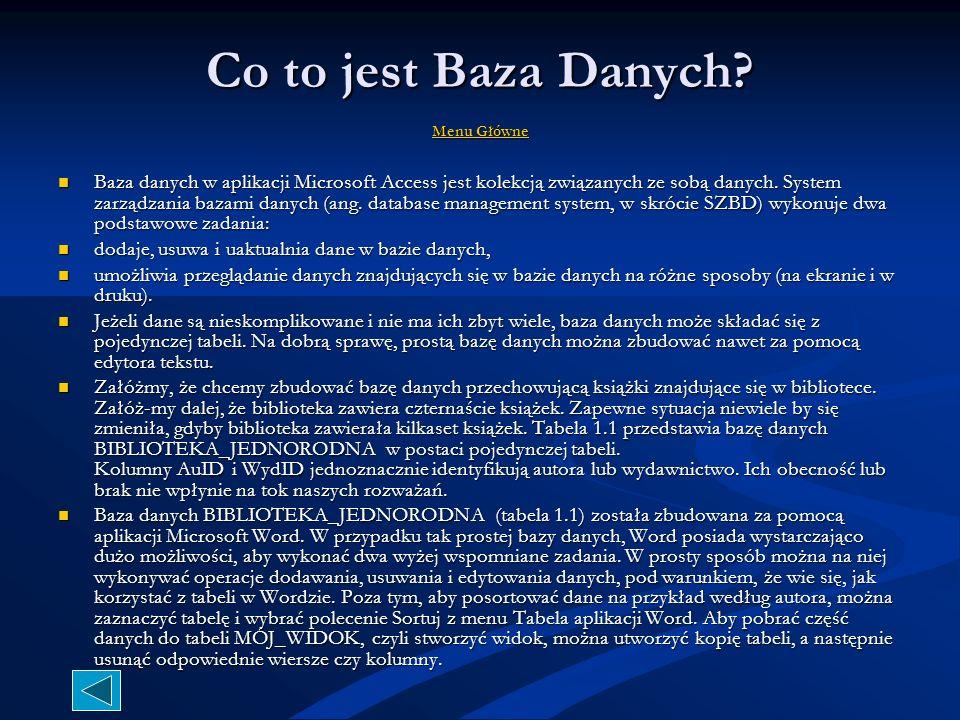 Co to jest Baza Danych.