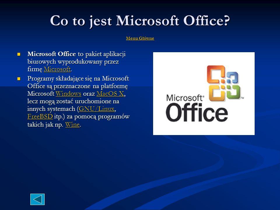 Test Microsoft Access 2007 MMMM eeee nnnn uuuu g g g g łłłł óóóó wwww nnnn eeee Access jest rozbudowanym programem służącym do tworzenia oraz obsługi baz danych.