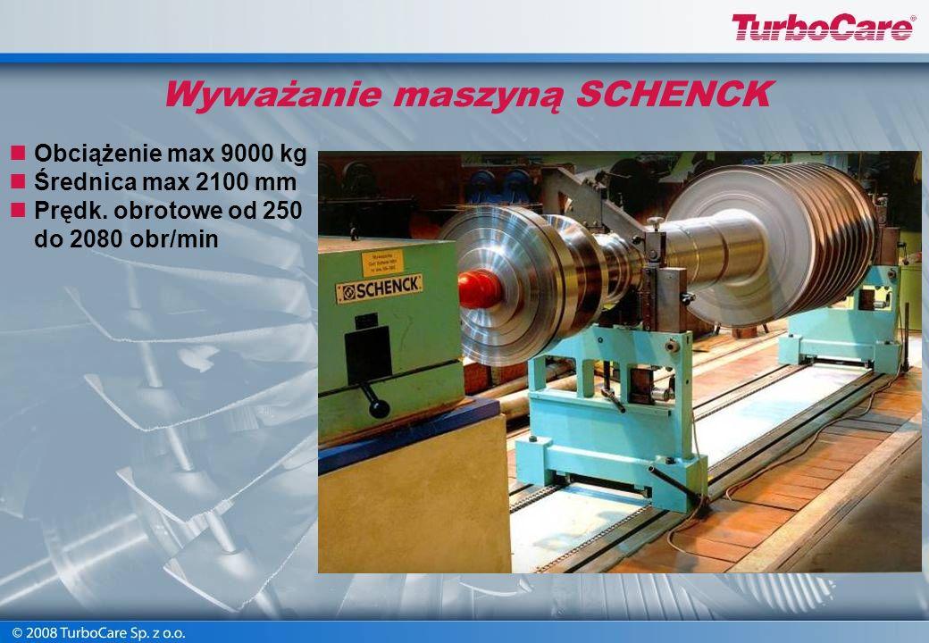 Krzywizna wirnika (bicie) przed prostowaniem – do 5,40 mm Krzywizna wirnika (bicie) po prostowaniu – max 0,12 mm Prostowanie wirników turbinowych na w