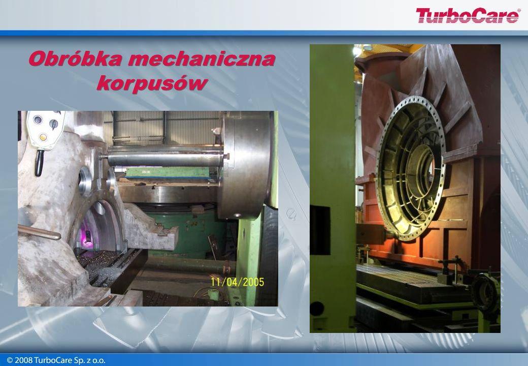 Naprawa korpusów turbin Przygotowanie do wyżarzania