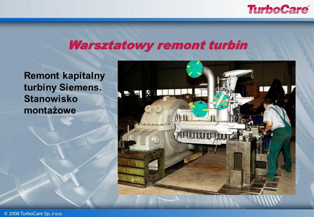 Remont wszystkich elementów układu przepływowego turbiny Obróbka kierownic