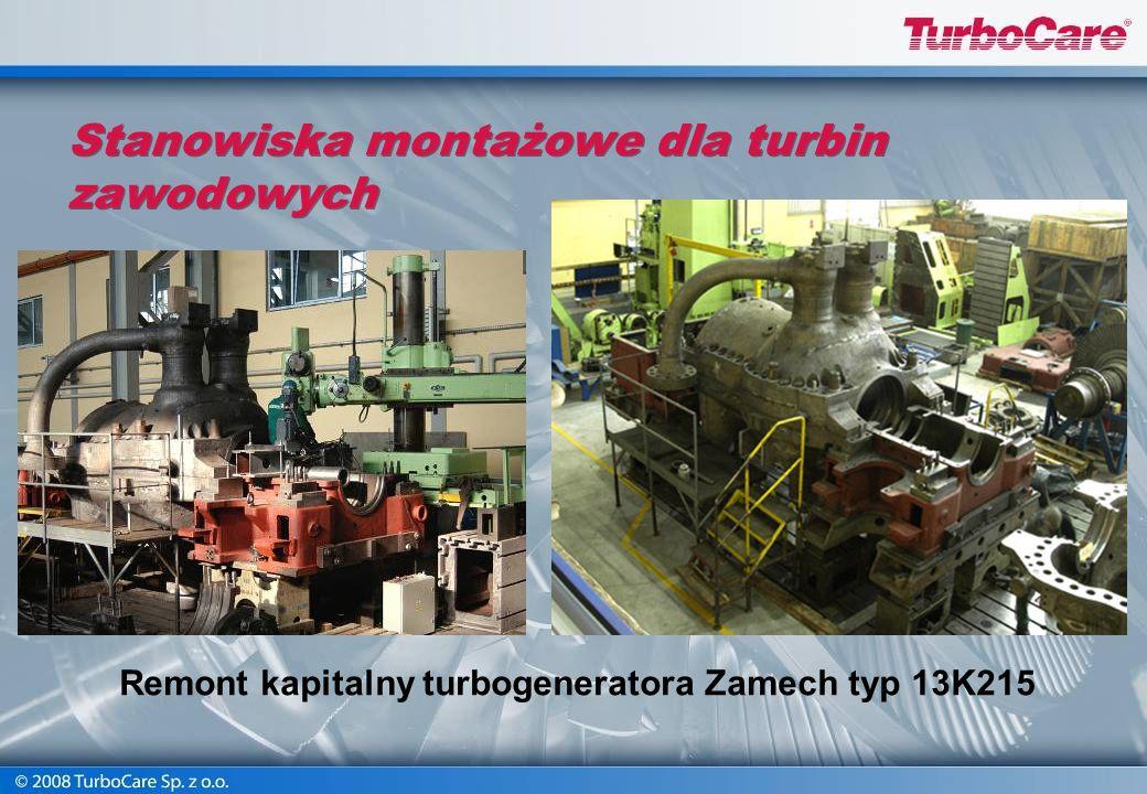 Warsztatowy remont turbin Remont kapitalny turbiny Siemens. Stanowisko montażowe