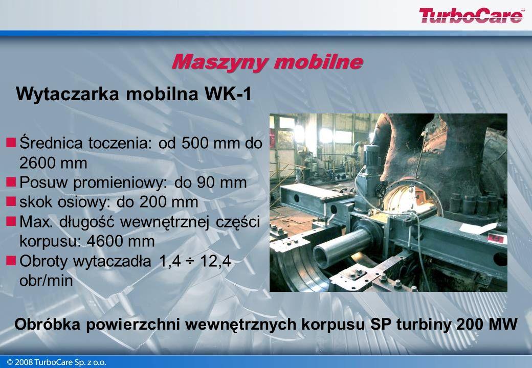 Stanowiska montażowe dla turbin zawodowych Remont kapitalny turbogeneratora Zamech typ 13K215