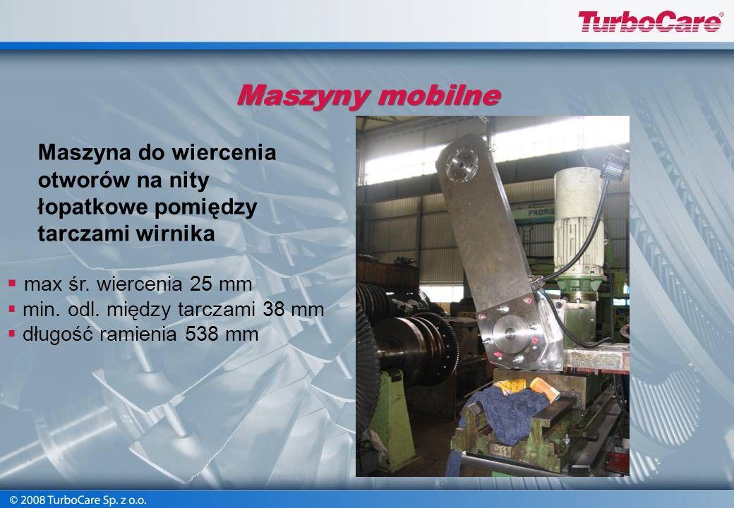 Maszyny mobilne Obróbka powierzchni i rowków oraz posadowień pod zawieszenia obejm i kierownic