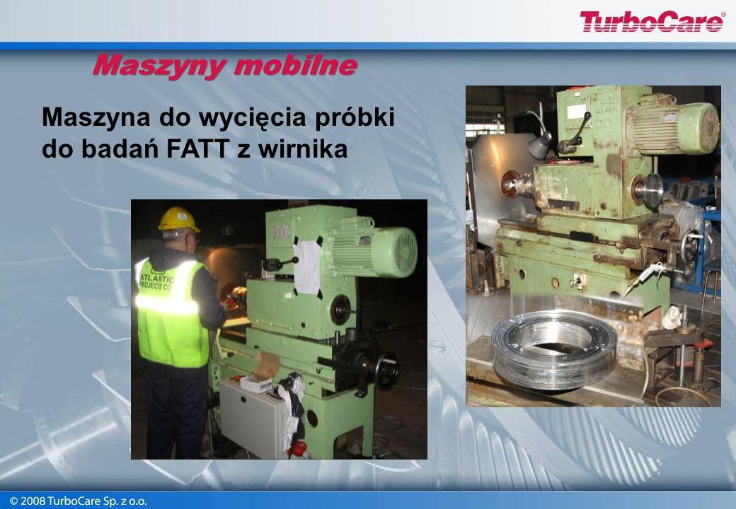 Maszyny mobilne Maszyna do wytaczania otworów sprzęgłowych Średnice: od 40 do 60 mm Moc: 1,5 kW Osiowy skok max: 230 mm Waga: 200 kg