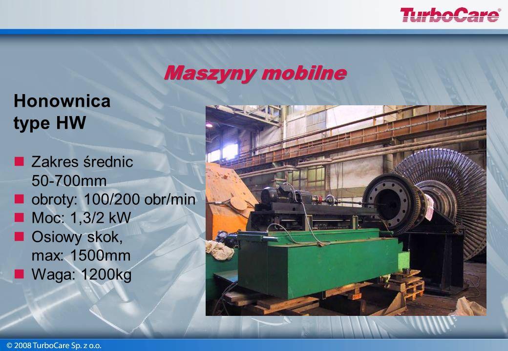 Maszyny mobilne Frezarka do płaszczyzny podziałowej Prędkość: 300 obr./min Zakres: 12-63 mm Osiowy skok: 400 mm Poprzeczny skok: 40 mm Pionowy skok: 4